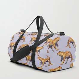 lilac tiger pattern Duffle Bag