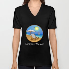 Dominican Republic Dominicano Flag Republica Dominicana Unisex V-Neck