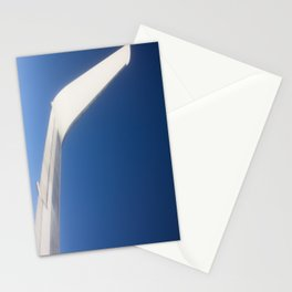 Airplane Wingtip on a blue sky Stationery Cards