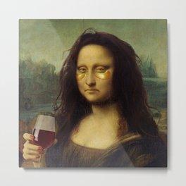 Drunk Lisa Metal Print