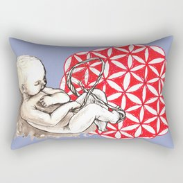 In the womb Rectangular Pillow