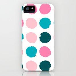 Hugo - abstract modern color palette gender neutral baby nursery dorm college art iPhone Case