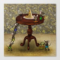 cheese Canvas Prints featuring Cheese by Anna Shell