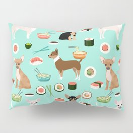 chihuahua sushi dog lover pet gifts cute pure breed chihuahuas multi coat colors Pillow Sham