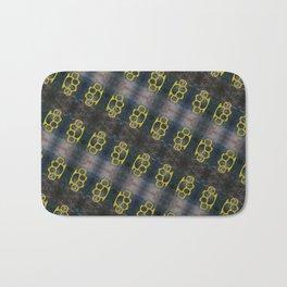 Brass Knuckles Pattern Bath Mat