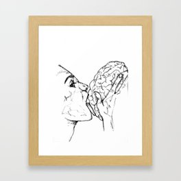 Brains Framed Art Print