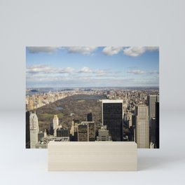 Top of the Rock view of Central Park in NYC Mini Art Print