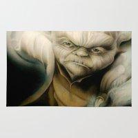 yoda Area & Throw Rugs featuring Yoda by Colunga-Art
