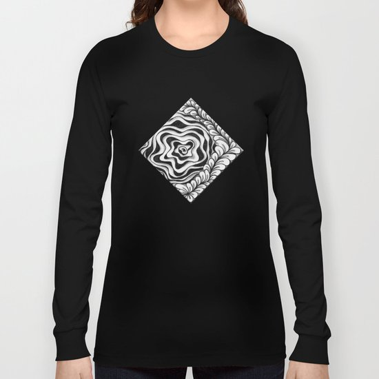 Doodled Rose & Vine Long Sleeve T-shirt