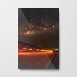 The Red Sky Road (Color) Metal Print