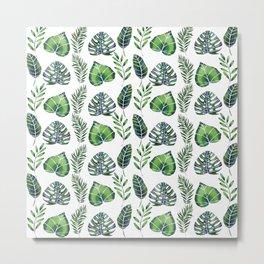 Tropical Ferns Metal Print
