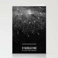 poster Stationery Cards featuring STARGAZING IS LIKE TIME TRAVEL by Amanda Mocci