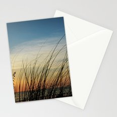 Sunset through the sea weeds Stationery Cards