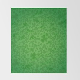 irish, ireland, shamrock, irish gifts women, luck of the irish, irish gift, three leaf clover Throw Blanket