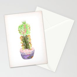 Papercraft Cactus in Green Stationery Cards