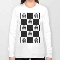 chess Long Sleeve T-shirts featuring Panda Chess by Panda Cool