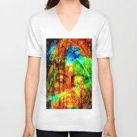 meditation V-neck T-shirts featuring  Meditation by shiva camille