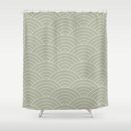Waves (Linen Sage) Shower Curtain