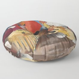African American Masterpiece 'Jumpin Jive' by Norman Lewis Floor Pillow