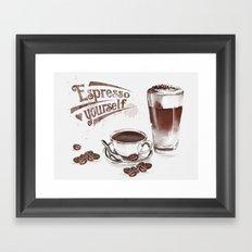 Espresso Yourself Framed Art Print