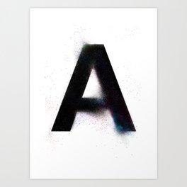 Multitudes Alphabet | A Art Print
