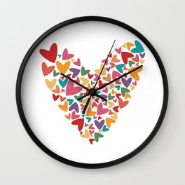 Colorful Heart Wall Clock