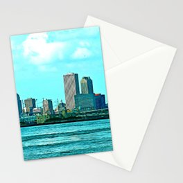 New Orleans Skyline (video game graphic style) Stationery Cards