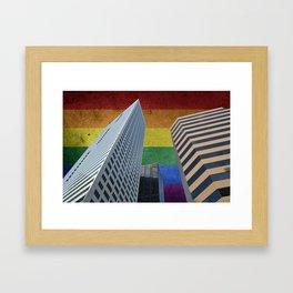 Houston LGBTQ Pride Skyline Framed Art Print