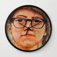 sam smith Wall Clocks featuring Sam by Whalefish