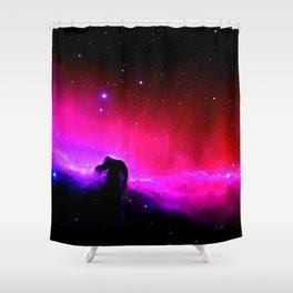 Galaxy : Horsehead nEbUlA Pink Red Purple Shower Curtain