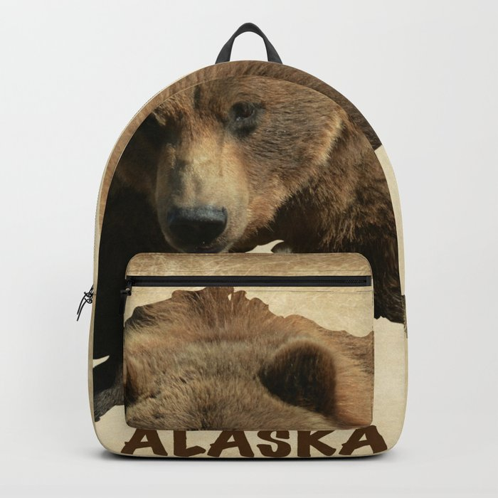 Alaskan Grizzly Map Backpack