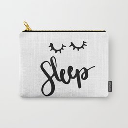 Sleep Handlettering text Carry-All Pouch