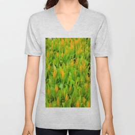 Field of Celosia Unisex V-Neck