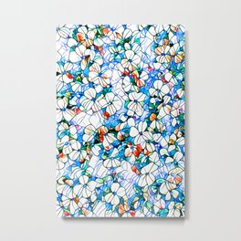 Glass stain mosaic 7 - flower, by Brian Vegas Metal Print