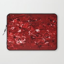 Abstract #446 Red Chaos Laptop Sleeve