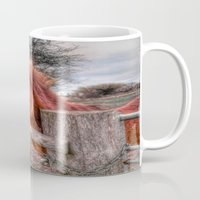pony Mugs featuring Pony  by Darren Wilkes Fine Art Images