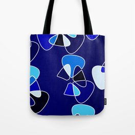Blue Mood Wallflowers Yoga Mat Print Tote Bag