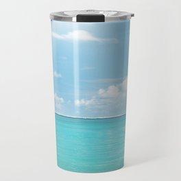Beach Sun Clouds Ocean Blues Sunshine Waves Seaside Travel Mug