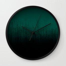 Emerald Ombré Wall Clock