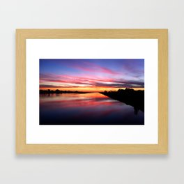 Sunset on the San Diego River Framed Art Print