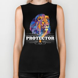 Protector: Lion Biker Tank