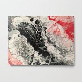 Black Cells Metal Print