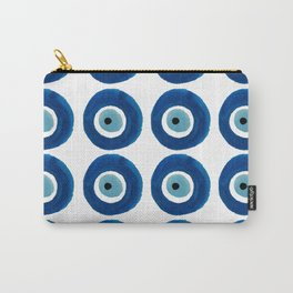 Watercolor Evil Eye Pattern (Nazar) Carry-All Pouch