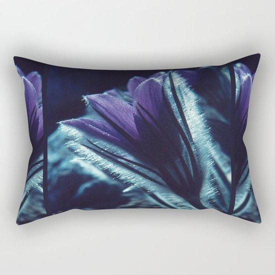 Flower in the Moonlight #2 #Purple Rectangular Pillow
