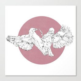In which scribbly birds fight Canvas Print