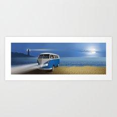 Blue ... beach ... bulli Art Print