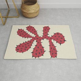 Matisse Inspired Red Shape Rug