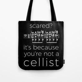 Fearless cellist (dark colors) Tote Bag