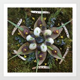 Nature Mandala: March Art Print