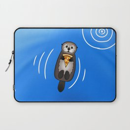 Sea Otter with Pizza Laptop Sleeve